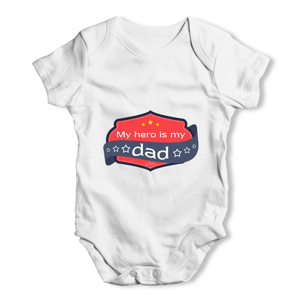 My Hero Is My Dad Baby Grow Bodysuit
