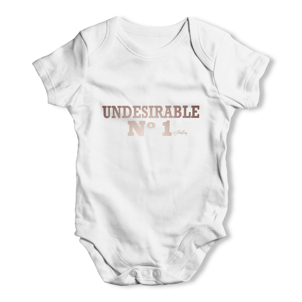 Undesirable Number 1 Baby Grow Bodysuit