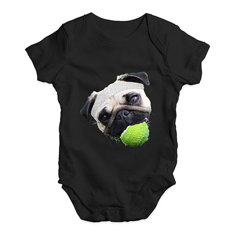 Baby Girl Clothes Tennis Pug Baby Unisex Baby Grow Bodysuit 0-3 Months Black
