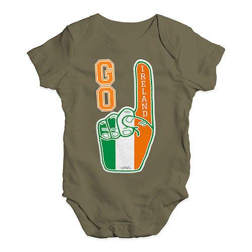 Funny Baby Clothes Go Ireland! Foam Finger Baby Unisex Baby Grow Bodysuit 6-12 Months Khaki