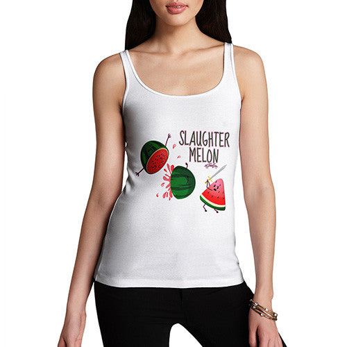 Slaughter Melon Watermelon Pun Women's Tank Top