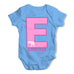 Personalised Letter E Baby Grow Bodysuit
