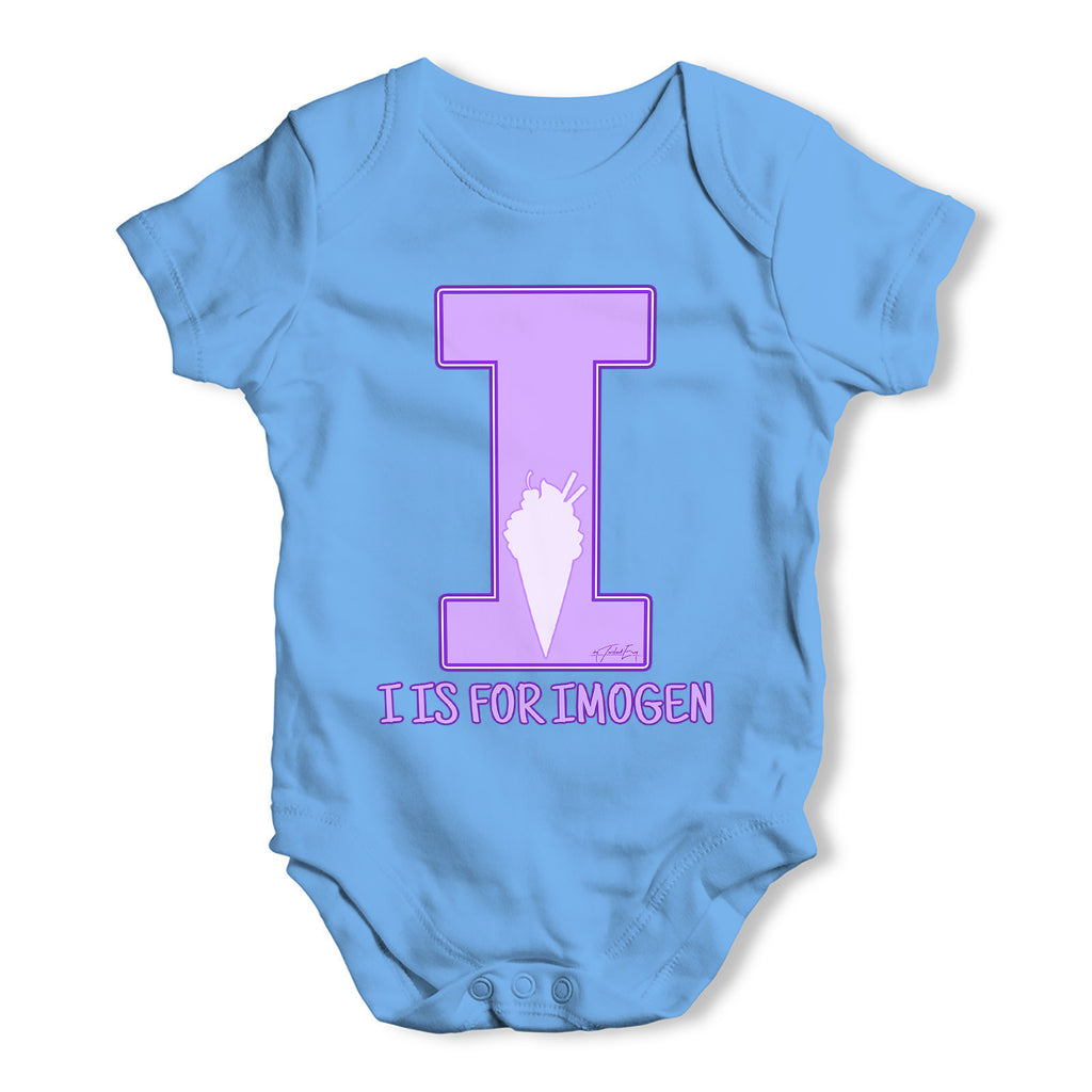 Personalised Letter I Baby Grow Bodysuit