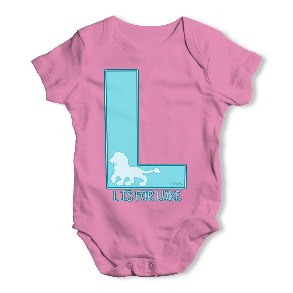 Personalised Letter L Baby Grow Bodysuit