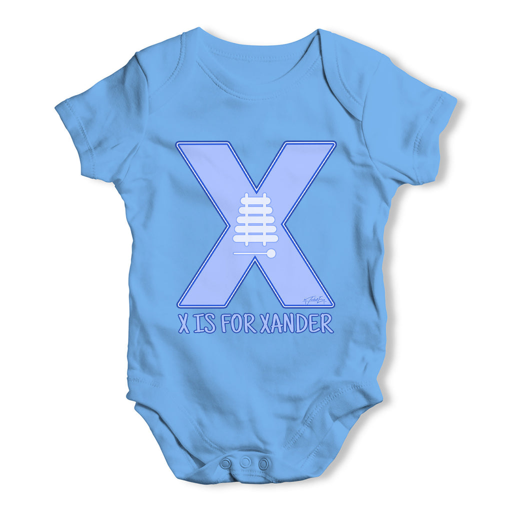 Personalised Letter X Baby Grow Bodysuit