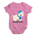Personalised Cartoon Polar Bear Baby Grow Bodysuit