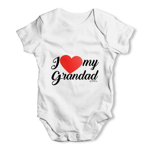 I Love My Grandad Baby Grow Bodysuit