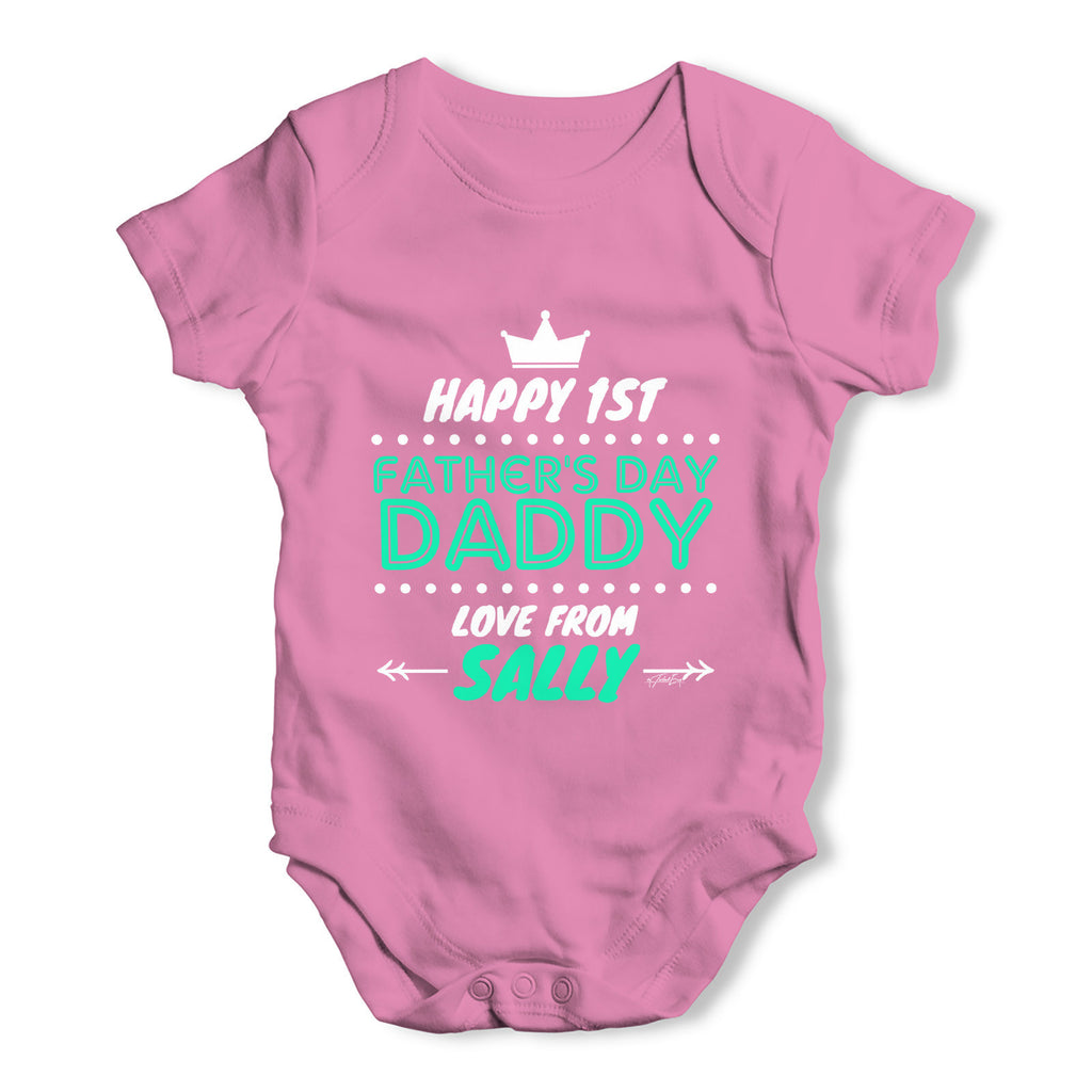 Personalised First Father's Day Baby Grow Bodysuit