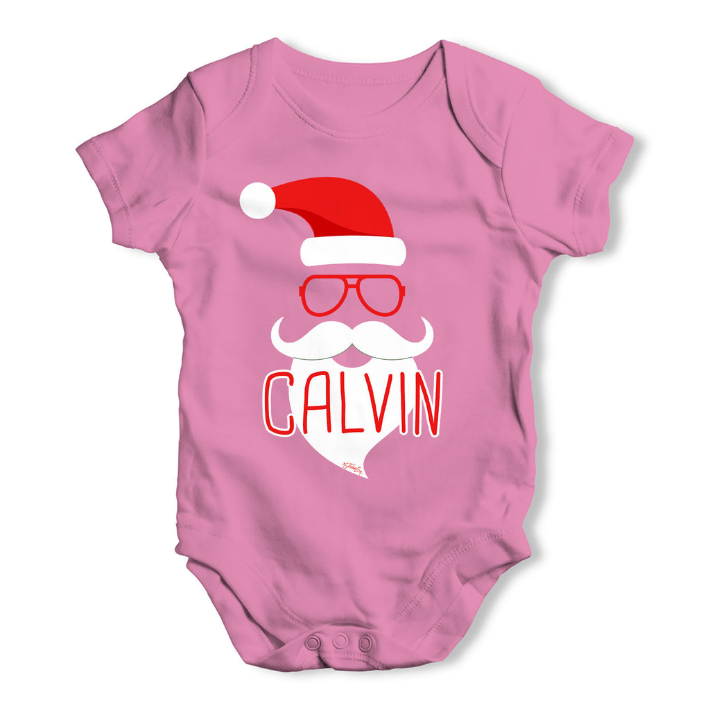 Personalised Hipster Santa Beard Baby Grow Bodysuit