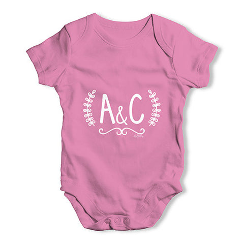 Personalised Wedding Initials Baby Unisex Baby Grow Bodysuit