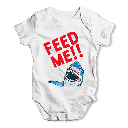 Feed Me Shark Baby Unisex Baby Grow Bodysuit