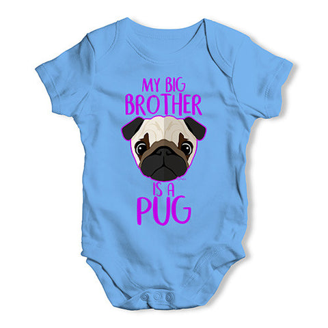 Personalised My Sibling Is A Pug Baby Unisex Baby Grow Bodysuit