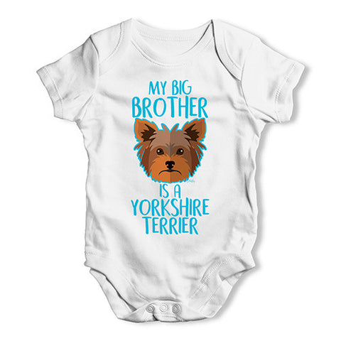 Personalised My Sibling Is A Yorkshire Terrier Baby Unisex Baby Grow Bodysuit