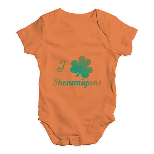 Baby Boy Clothes I Love Shamrock Shenanigans Irish Green Baby Unisex Baby Grow Bodysuit 6-12 Months Orange