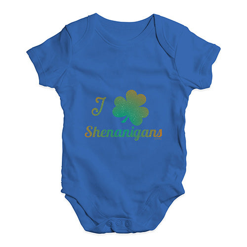 Baby Girl Clothes I Love Shamrock Shenanigans Irish Green Baby Unisex Baby Grow Bodysuit 12-18 Months Royal Blue