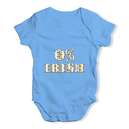 Funny Infant Baby Bodysuit 0% Irish St Patrick's Day Shamrock Irish Flag Baby Unisex Baby Grow Bodysuit Newborn Blue