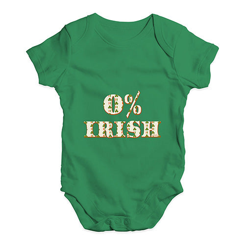 Baby Grow Baby Romper 0% Irish St Patrick's Day Shamrock Irish Flag Baby Unisex Baby Grow Bodysuit 0-3 Months Green
