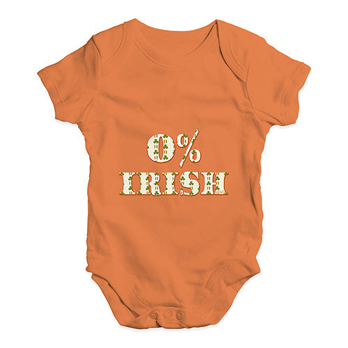Baby Grow Baby Romper 0% Irish St Patrick's Day Shamrock Irish Flag Baby Unisex Baby Grow Bodysuit Newborn Orange
