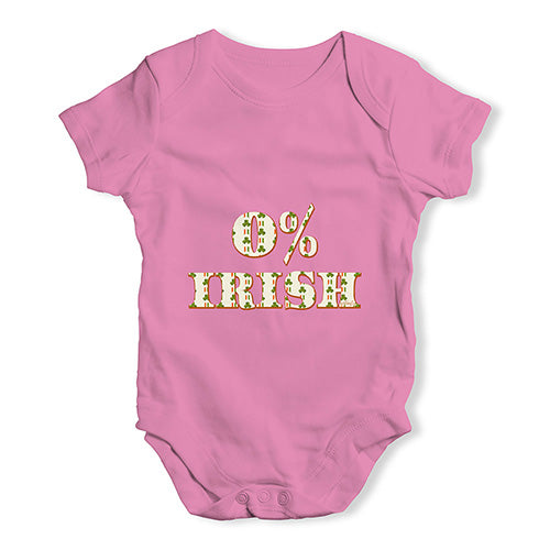 Bodysuit Baby Romper 0% Irish St Patrick's Day Shamrock Irish Flag Baby Unisex Baby Grow Bodysuit 18-24 Months Pink