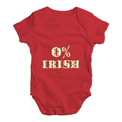 Funny Infant Baby Bodysuit 0% Irish St Patrick's Day Shamrock Irish Flag Baby Unisex Baby Grow Bodysuit 18-24 Months Red
