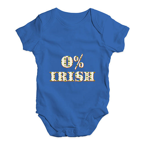 Baby Girl Clothes 0% Irish St Patrick's Day Shamrock Irish Flag Baby Unisex Baby Grow Bodysuit 12-18 Months Royal Blue