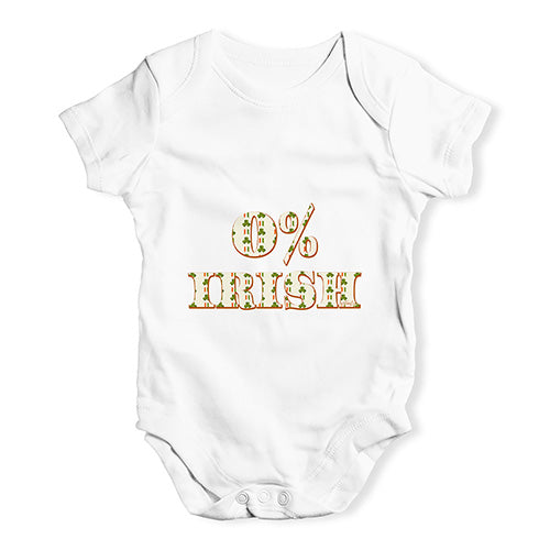 Baby Grow Baby Romper 0% Irish St Patrick's Day Shamrock Irish Flag Baby Unisex Baby Grow Bodysuit 18-24 Months White