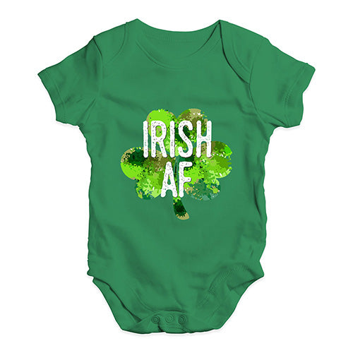 Funny Infant Baby Bodysuit Onesies Irish AF Baby Unisex Baby Grow Bodysuit 12-18 Months Green