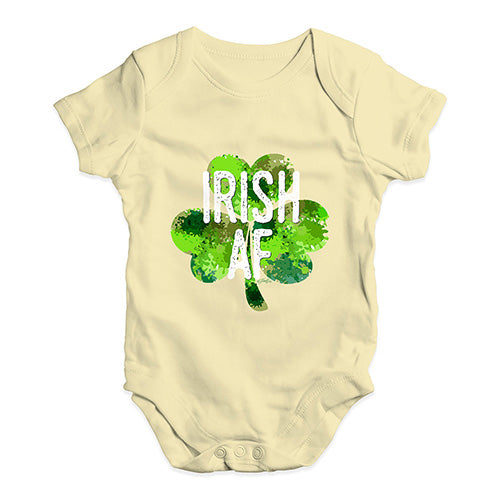 Baby Grow Baby Romper Irish AF Baby Unisex Baby Grow Bodysuit 0-3 Months Lemon