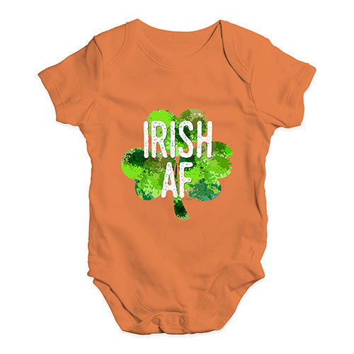 Baby Grow Baby Romper Irish AF Baby Unisex Baby Grow Bodysuit Newborn Orange