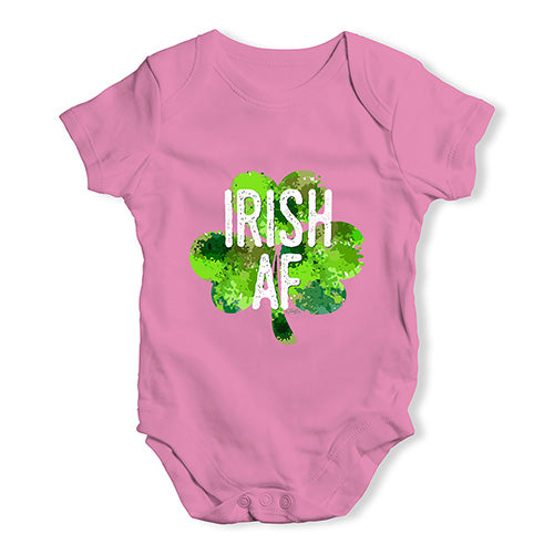 Baby Boy Clothes Irish AF Baby Unisex Baby Grow Bodysuit 6-12 Months Pink