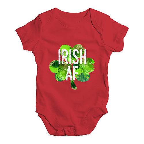 Baby Grow Baby Romper Irish AF Baby Unisex Baby Grow Bodysuit 0-3 Months Red