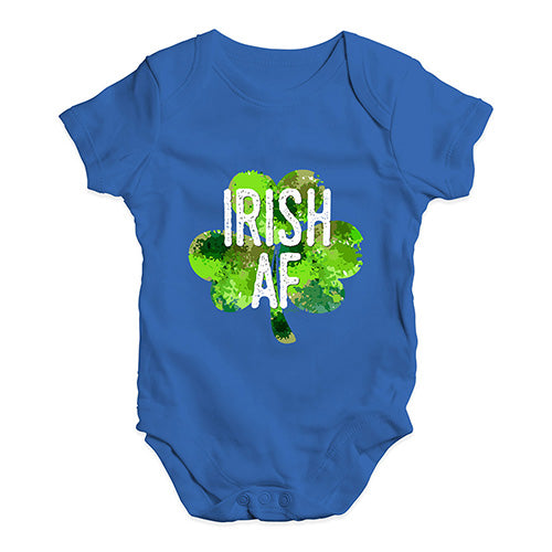 Baby Grow Baby Romper Irish AF Baby Unisex Baby Grow Bodysuit Newborn Royal Blue