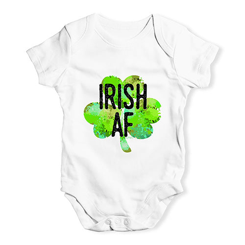Funny Baby Onesies Irish AF Baby Unisex Baby Grow Bodysuit 6-12 Months White