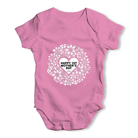 Happy 1st Mother's Day Cutout Baby Unisex Baby Grow Bodysuit