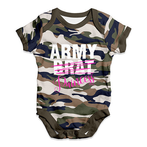 Army Brat Princess Baby Unisex Baby Grow Bodysuit