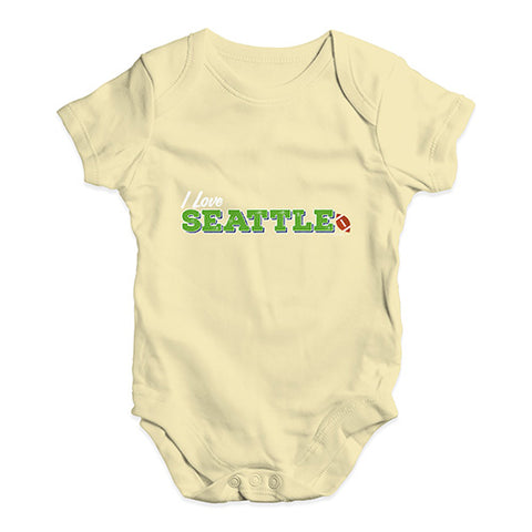 I Love Seattle American Football Baby Unisex Baby Grow Bodysuit