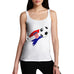 Croatia Football Flag Paint Splat Women's Tank Top