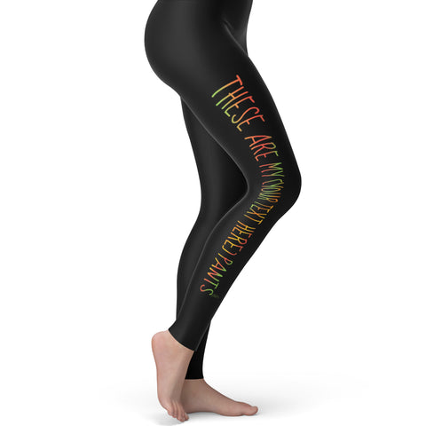 Personalised These Are My Pants Women's Leggings