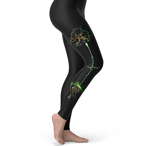 Fantasy Battle Green Magic Women's Leggings
