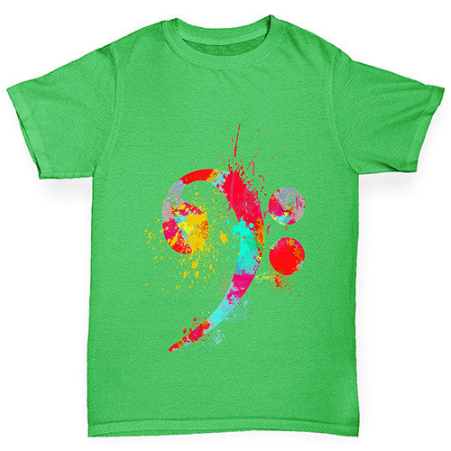 Bass Clef Paint Splats Boy's