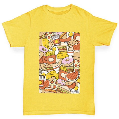 Food Collage Boy's T-Shirt