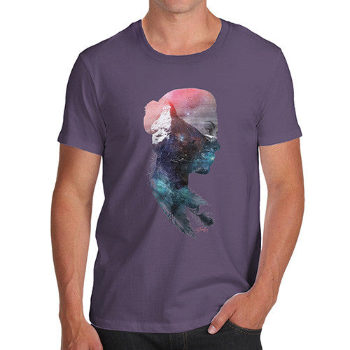 Cosmic Mountain Woman Men's T-Shirt
