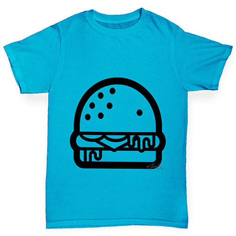 Burger Outline Boy's T-Shirt