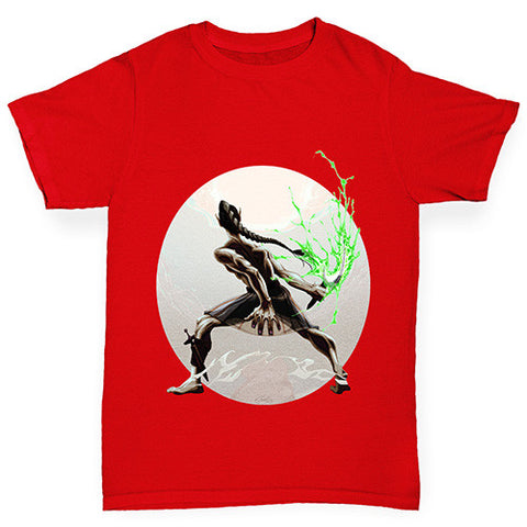 Elf Enchanted Sword Fantasy Boy's T-Shirt