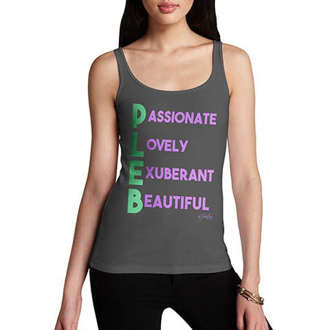 Pleb Acrostic Poem Women's Tank Top