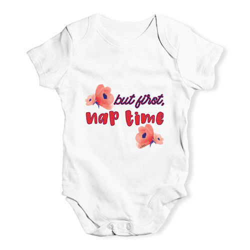 But First Nap Time Baby Unisex Baby Grow Bodysuit