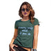 Funny Shirts For Women Dreams Only Work If You Do Women's T-Shirt Medium Bottle Green
