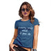Womens Humor Novelty Graphic Funny T Shirt Dreams Only Work If You Do Women's T-Shirt Medium Royal Blue