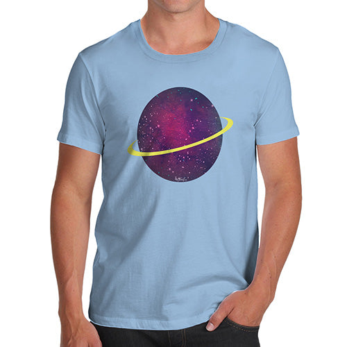 Mens Humor Novelty Graphic Sarcasm Funny T Shirt Space Planet Men's T-Shirt Small Sky Blue