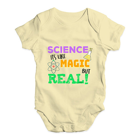 Science Is Like Magic But Real Baby Unisex Baby Grow Bodysuit